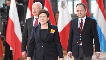 29-04-2017 12:46 Prawa Polonii, rozliczenia finansowe i partnerskie relacje. Szydło o celach na szczyt ws. Brexitu