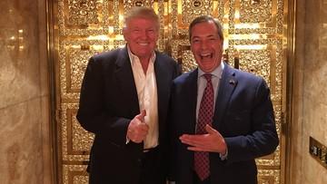 """13-11-2016 06:47 """"To człowiek, z którym możemy robić biznes"""". Farage po spotkaniu z Trumpem"""