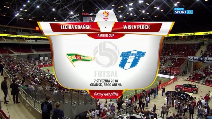 Amber Cup: Lechia Gdańsk - Wisła Płock 3:4. Skrót półfinału