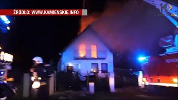 29-08-2016 16:18 Piorun uderzył w dom. Wybuchł pożar