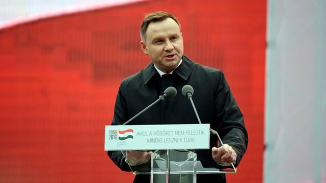 Duda do Węgrów: zapłaciliście za pragnienie wolności