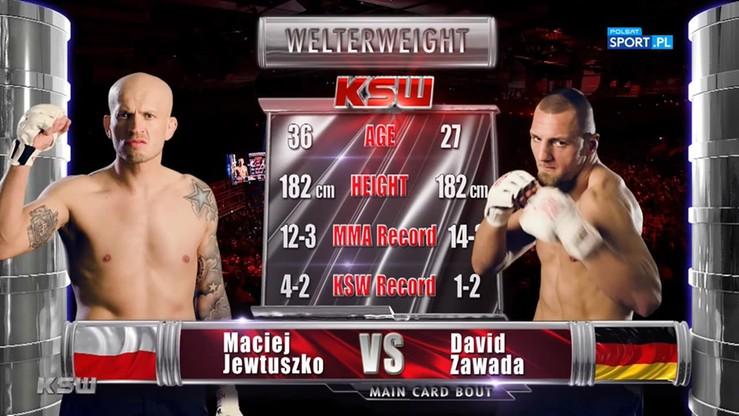 Dawid Zawada - Maciej Jewtuszko. Skrót walki