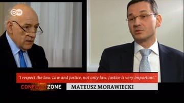 """16-02-2017 22:23 """"Protestowałem przeciw bezrefleksyjnemu podejściu prawniczemu"""". Morawiecki o swoich słowach, że """"prawo nie jest najważniejsze"""""""