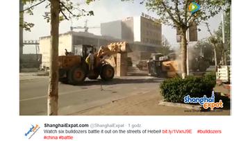 18-04-2016 10:37 Chińscy budowlańcy urządzili sobie... bitwę na buldożery