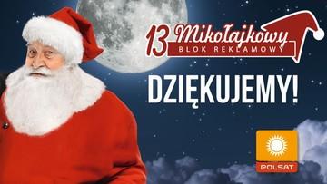 6 milionów widzów Polsatu obejrzało 13. Mikołajkowy Blok Reklamowy