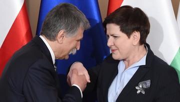 19-04-2017 18:35 Beata Szydło spotkała się z szefem węgierskiego parlamentu