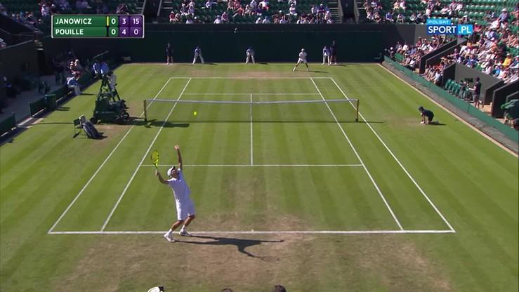 Błyskawiczny gem serwisowy Janowicza w II rundzie Wimbledonu