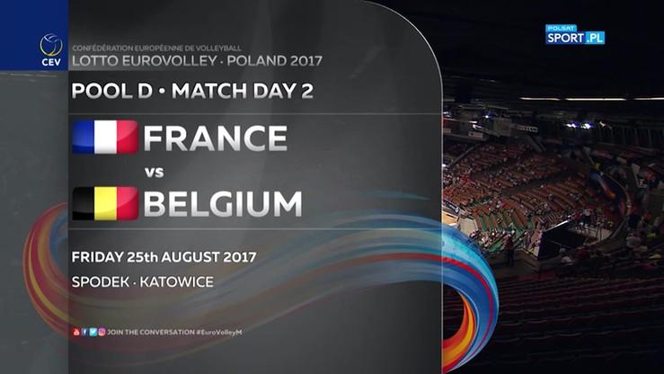 Francja - Belgia 2:3. Skrót meczu