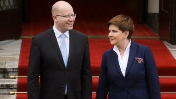 08-04-2016 11:45 Warszawa: konsultacje premierów Czech i Polski