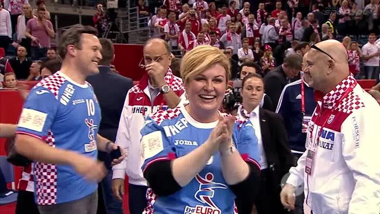 Pani prezydent Chorwacji cieszy się razem z zespołem - wideo ...