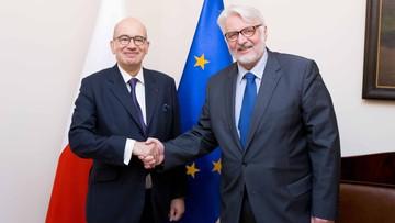 13-10-2016 13:13 Waszczykowski spotkał się z nowym ambasadorem Francji w Polsce