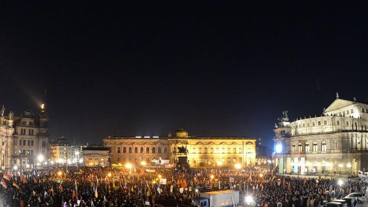 Antyimigranckie demonstracje w Dreźnie