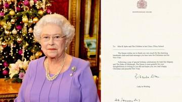02-02-2017 17:59 List brytyjskiej królowej do dzieci z gminy Rychwał. Monarchini dziękuje za kartki ze świątecznymi życzeniami