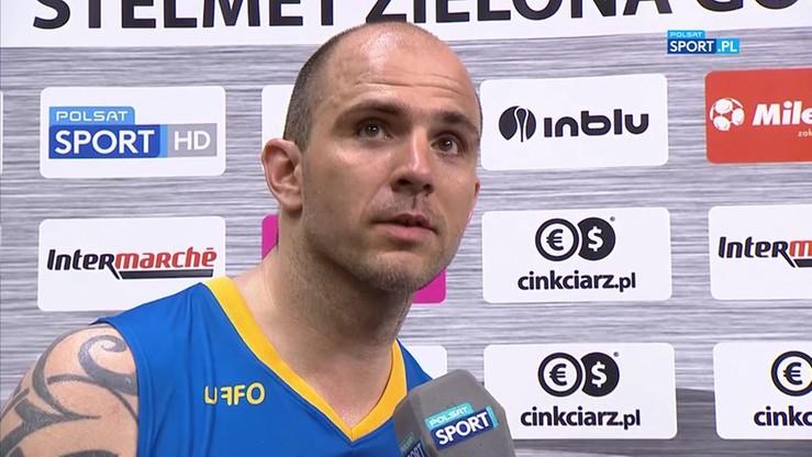 Szewczyk po meczu Stelmet BC Zielona Góra - BM Slam Stal Ostrów Wlkp.