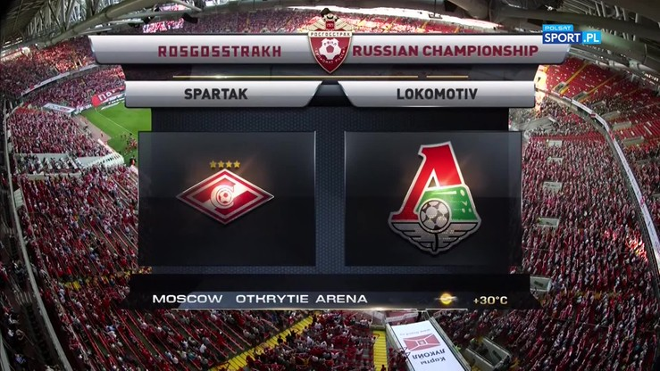 2017-08-19 Spartak Moskwa - Lokomotiv Moskwa 3:4. Skrót meczu