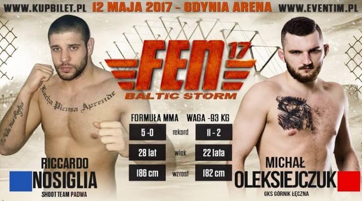 FEN 17: Oleksiejczuk - Nosiglia w karcie walk