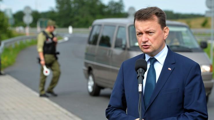 Błaszczak: zatrzymanie na granicy zespołu z Ukrainy to kwestia porządku publicznego
