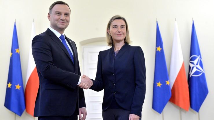Mogherini: Polska jest silnym członkiem rodziny UE. Szefowa unijnej dyplomacji z wizytą w Polsce