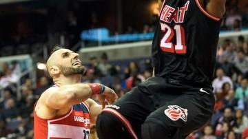 2017-11-18 NBA: Wizards nie sprostali Miami Heat. Przyzwoity dorobek Gortata