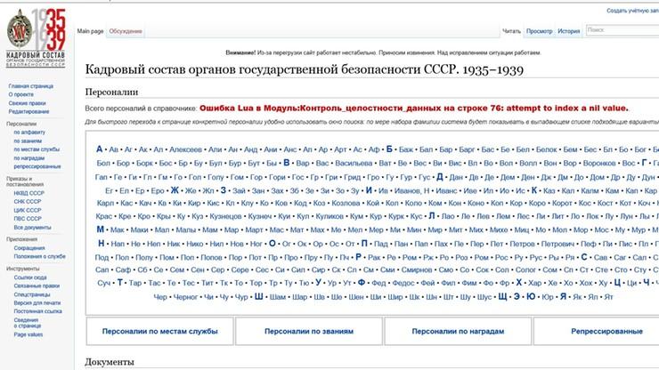 Strona z bazą danych oprawców z NKWD nie wytrzymała oblężenia