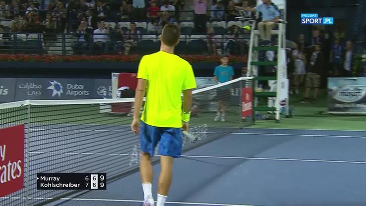 Genialny skrót Murraya przy piłce meczowej rywala!