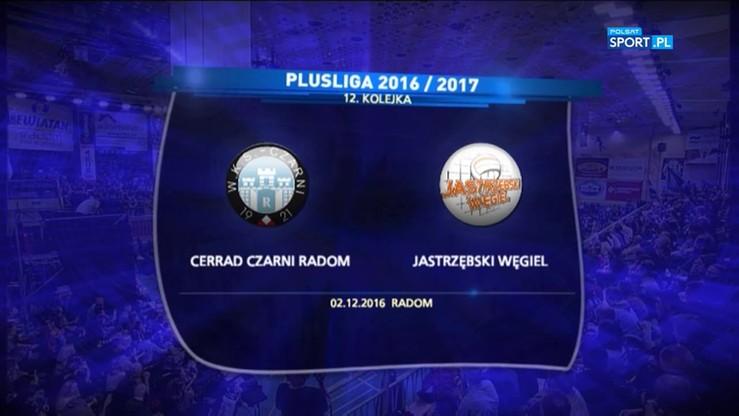 2016-12-02 Cerrad Czarni Radom - Jastrzębski Węgiel 1:3. Skrót meczu