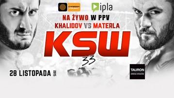 2015-11-24 KSW 33: Khalidov - Materla. Gdzie obejrzeć w PPV?