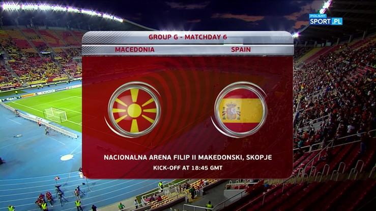 Macedonia - Hiszpania 1:2. Skrót meczu