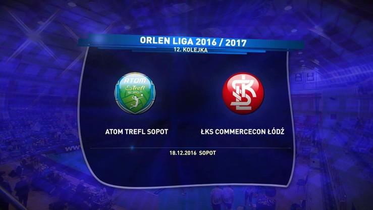 Atom Trefl Sopot – ŁKS Commercecon Łódź 3:2. Skrót meczu