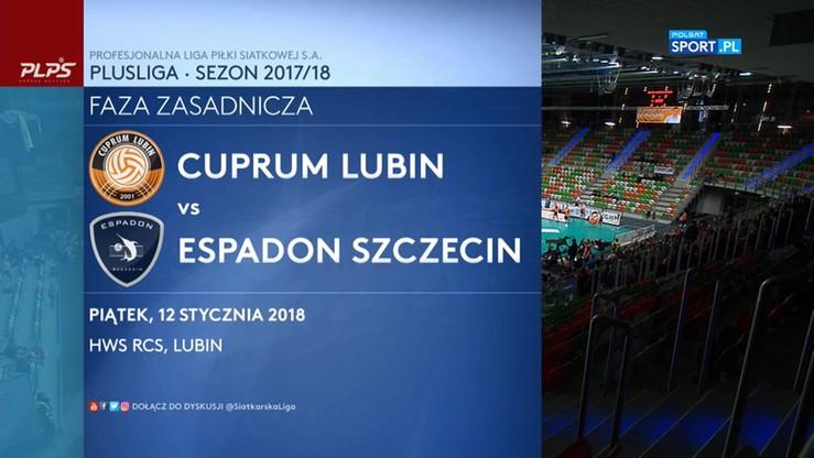 Cuprum Lubin - Espadon Szczecin 3:1. Skrót walki