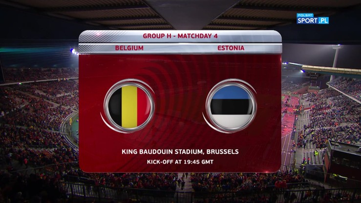 Belgia - Estonia 8:1. Skrót meczu