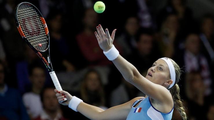 Fed Cup: Broniące trofeum Czeszki remisują w finale z Francuzkami