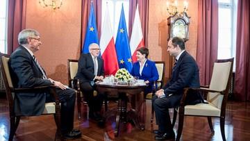 24-05-2016 14:13 Spotkanie premier Szydło i Timmermansa