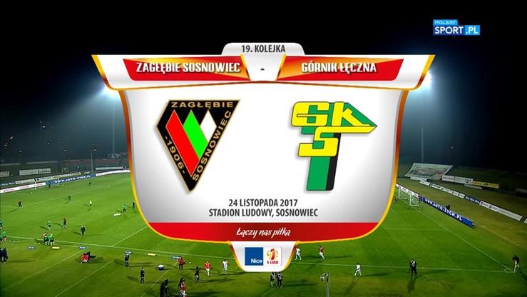 2017-11-24 Zagłębie Sosnowiec - Górnik Łęczna 2:2. Skrót meczu