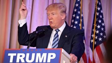 """12-03-2016 18:03 Trump oskarża """"zbirów"""" o uniemożliwienie wiecu w Chicago"""