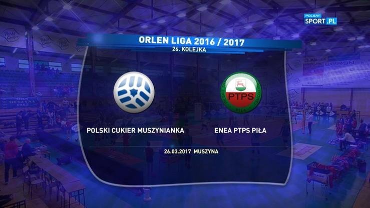 Polski Cukier Muszynianka Muszyna - Enea PTPS Piła 3:1. Skrót meczu