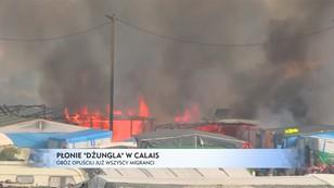 Płonie Dżungla w Calais