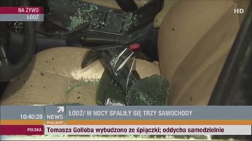 Płonące samochody w Łodzi. Policja przypuszcza, że mogło to być podpalenie