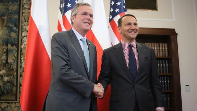 Jeb Bush w Warszawie, spotkał się z Sikorskim