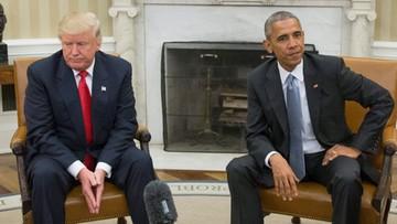 """Trump rozmawiał z Obamą. """"To była miła rozmowa"""""""