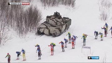 2017-04-01 Czołg ochraniał Kowalczyk na trasie! Czułam się bezpiecznie