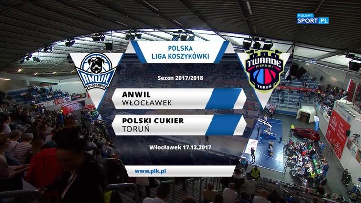 Anwil Włocławek - Polski Cukier Toruń 81:74. Skrót meczu