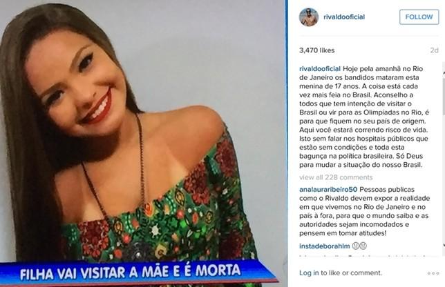 zdjęcie 17-latki Rivaldo zamieścił na Instagramie