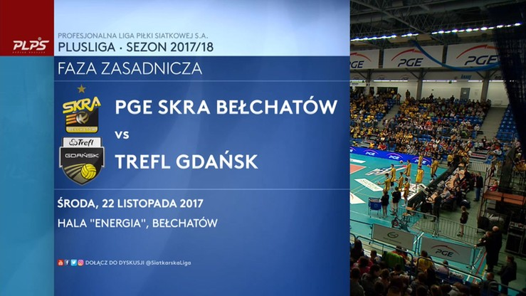 PGE Skra Bełchatów - Trefl Gdańsk 3:0. Skrót meczu