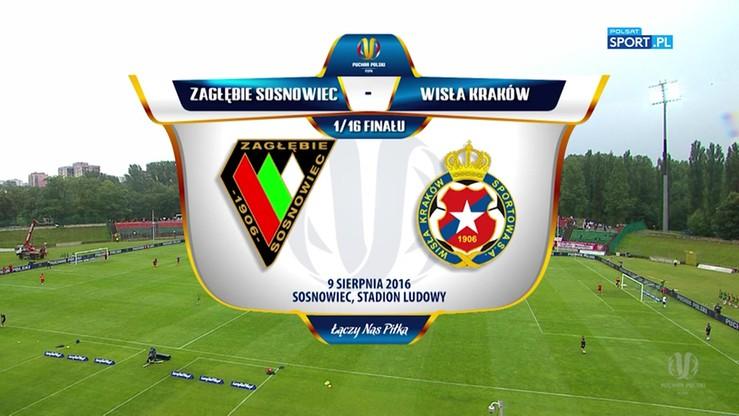 Zagłębie Sosnowiec - Wisła Kraków 3:4. Skrót meczu Pucharu Polski
