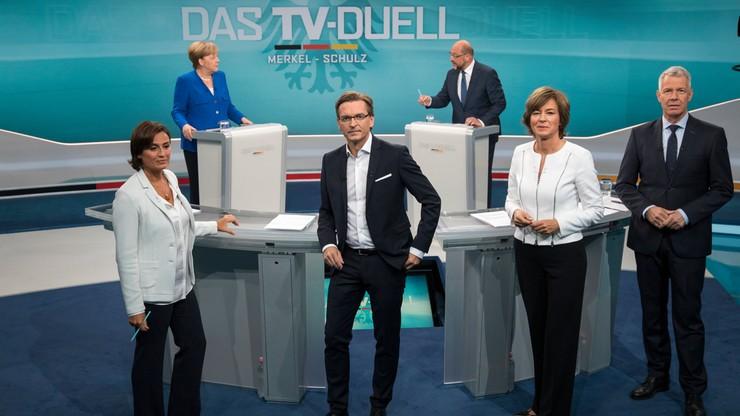 Pojedynek telewizyjny Schulz-Merkel. Kandydat SPD krytykuje Polskę i Węgry za odmowę przyjęcia uchodźców