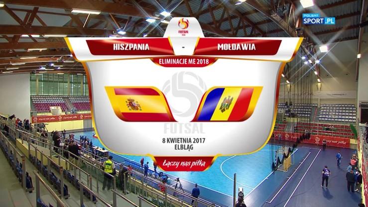 El. ME: Hiszpania - Mołdawia 7:0. Skrót meczu