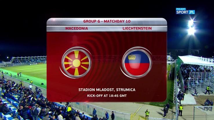 Macedonia - Liechtenstein 4:0. Skrót meczu