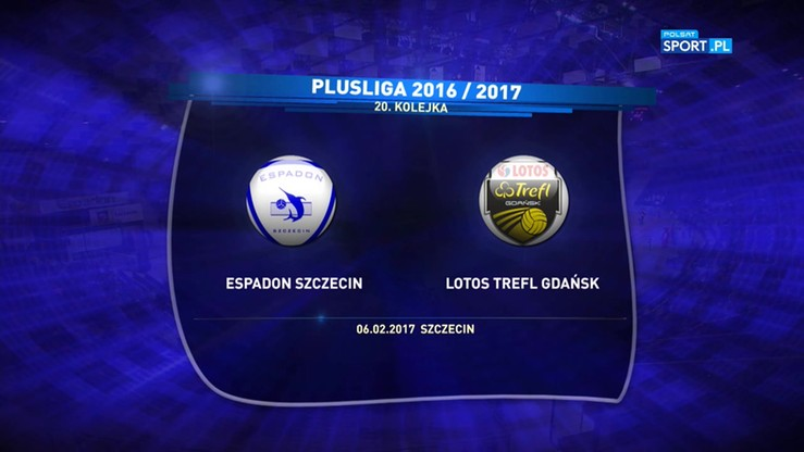 Espadon Szczecin - Lotos Trefl Gdańsk 3:1. Skrót meczu