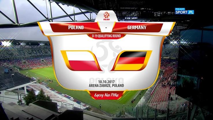 Polska U19 - Niemcy U19 0:2. Skrót meczu